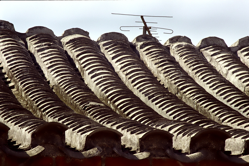 Traditional Chinese roof.