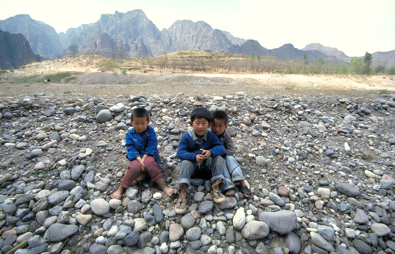 Children on Beijing suburb.