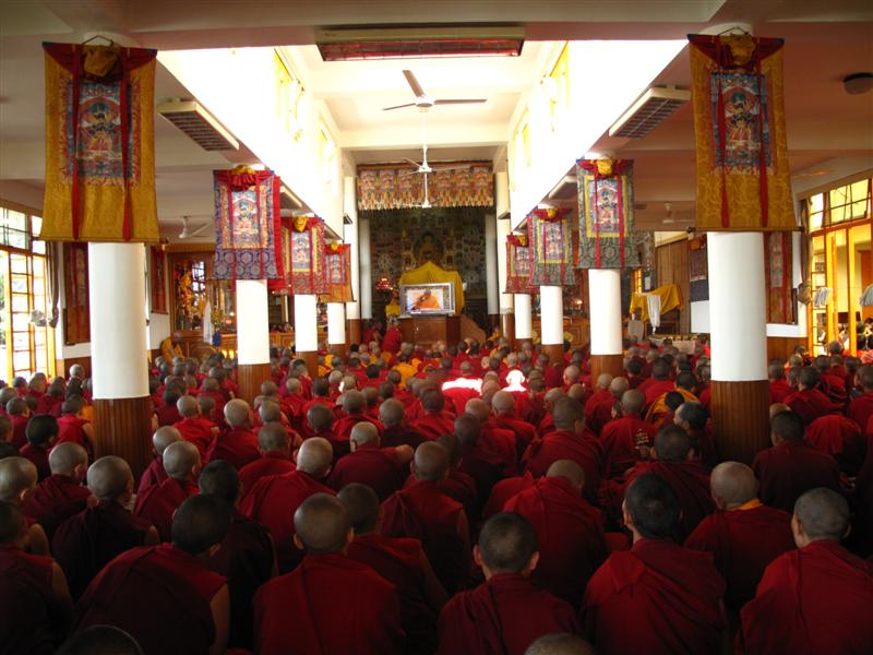 Monks and Nuns listen pray at the Monastery