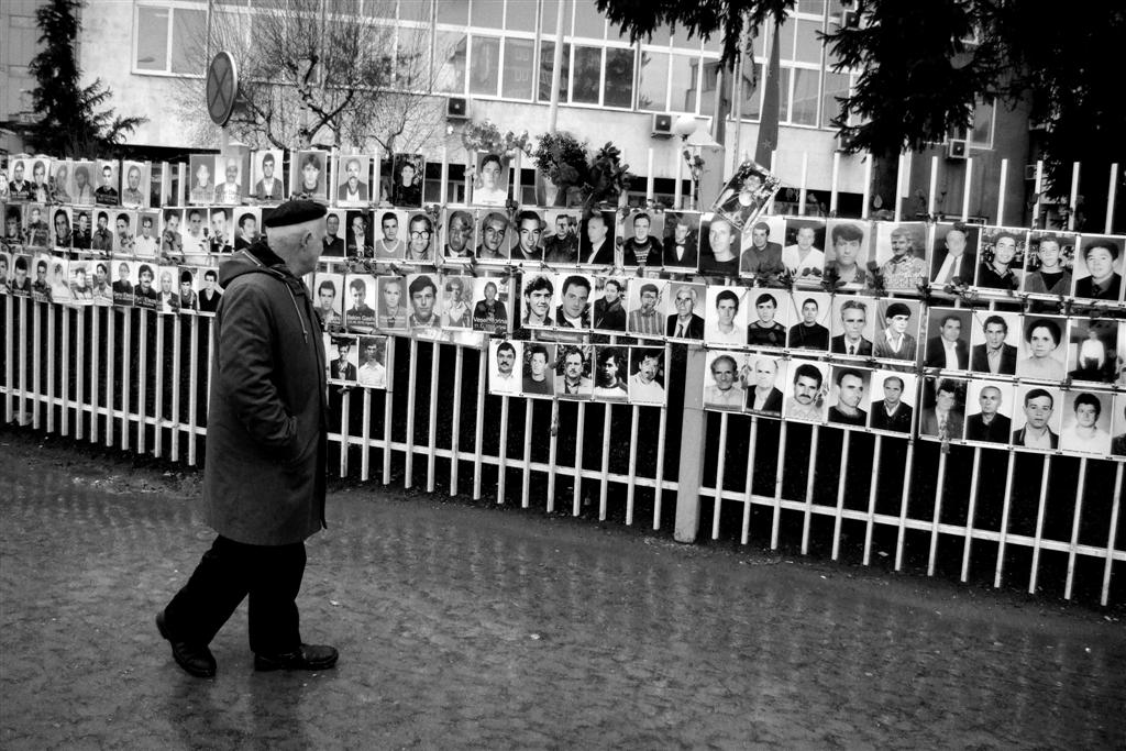 Photos of missing people during the war in Kosovo