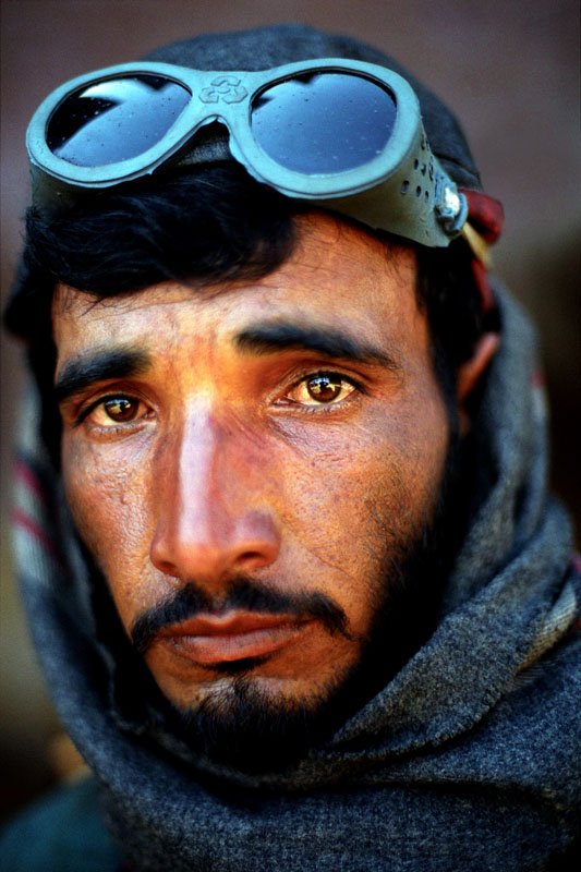 A worker at the Gaddani ship-breaking yard
