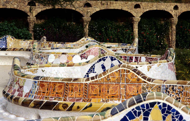 Seats in Guell Park