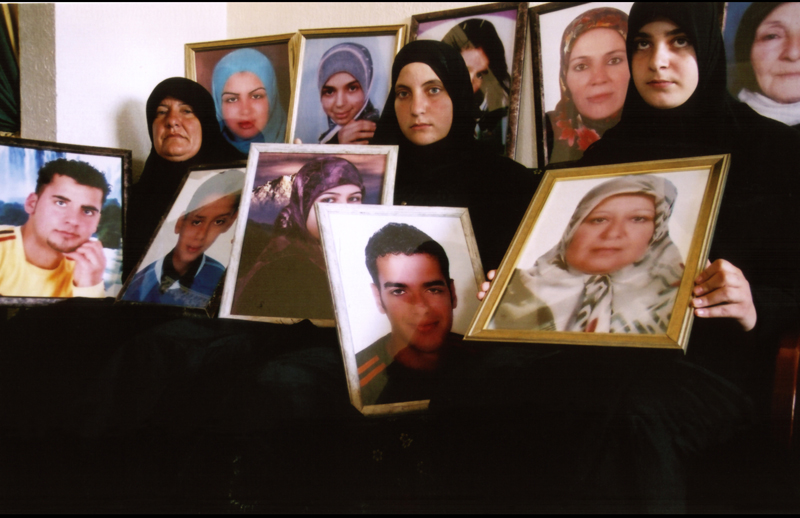 Funeral for killed family, Zebquin, Lebanon