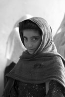 Afghan girl at school