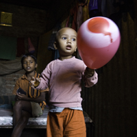 child and balloon
