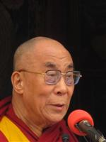 Dalai Lama during a speech