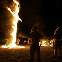 Ku Klux Klan Cross Lighting