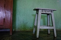 Stool in the clinic at Hakha Eye Centre