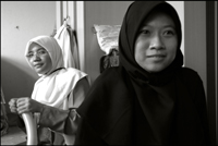 Students from the Fajar Hidayah organization in Singapore at an orphanage in Banda Aceh Indonesia.