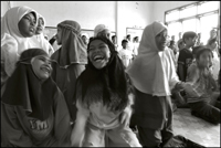 Girls having fun during the morning class at an orphanage in Banda Aceh Indonesia
