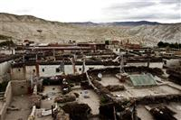 A glimpse of the walled city of Lo Manthang, Upper Mustang