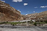 Upper Mustang, striking desert mountain terrain is the one protected by the world's highest mountains.