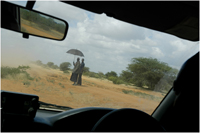 The road to IFO refugee camp from Dadaab.